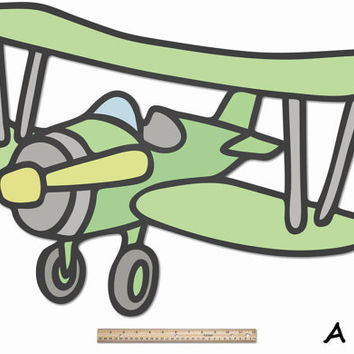 Funnest Bi-Plane - Kids, Boys, Nursery, Baby Room Idea, Fantastically Large Wood Wall Decor