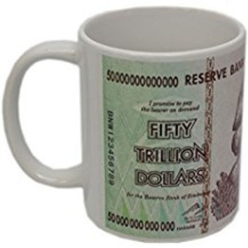 Zimbabwe 50 Trillion Banknote Coffee Mug