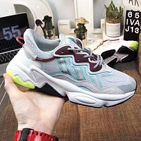 Adidas Ozweego Fashion Women Men Casual Sport Running Shoes Sneakers Grey