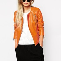 Only Collarless Biker Jacket