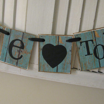 Bride to Be Wedding Shower Banner Bridal Shower Garland Bunting Vintage Barn Siding Look Shabby Chic