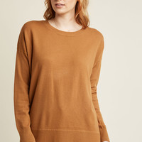 Ease Achieved Pullover Sweater in Sienna