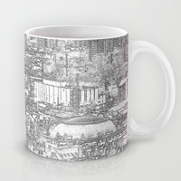 Leeds City Drawing Mug by Karl Wilson Photography
