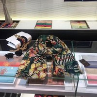 ONETOW Gucci Plant flowers cashmere scarf scarves