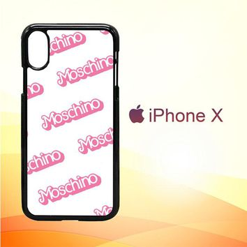 moschino pattern Z5297 iPhone X Case