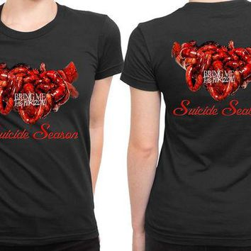 VONEED6 Bring Me The Horizon Suicide Season Illustrations 2 Sided Womens T Shirt