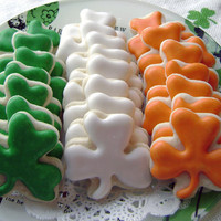 Mini Shamrock Sugar Cookies  St Patrick's Day by pfconfections