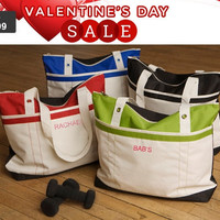 Personalized Fitness Fun Bag Gym Tote Monogram Gift Bridesmaid Maid of Honor