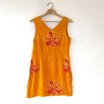 vintage tropical bali rayon sundress from dirty birdies