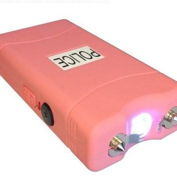 POLICE 25,000,000 V Stun Gun With LED Flashlight (Pink)