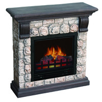 Dublin Polystone Electric Fireplace | Overstock.com Shopping - The Best Deals on Indoor Fireplaces