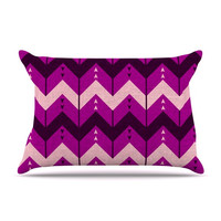 "Nick Atkinson ""Chevron Dance Purple"" Pillow Sham"