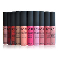 NYX soft matte dull liquid NYX lipstick vintage long lasting 9 pc set 1 Free Bonus