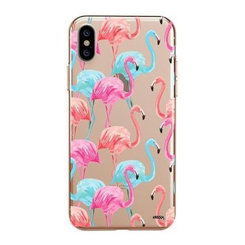 Watercolor Flamingo - iPhone Clear Case
