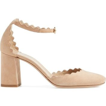 Chloé Scalloped Ankle Strap d'Orsay Pump (Women) | Nordstrom