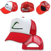 NEW Pokemon -ASH KETCHUM Cap -EMBROIDERED Hat FREE SHIP [8098017095]