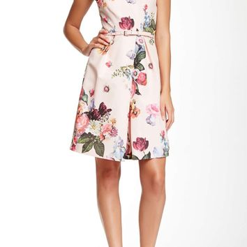 Ted Baker London Deavon Oil Painting Floral Print Dress