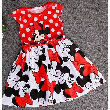cinderella dress 2017 new children's clothing minnie dot kids dress tutu princess children dress casual girls clothes