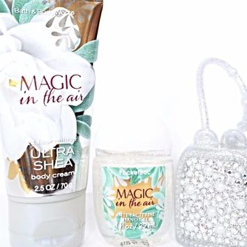 Bath and Body Works Magic In the Air Travel Lotion, PocketBac, Glitter Holder