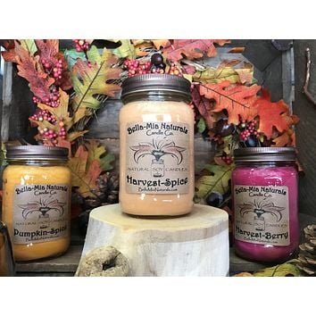 Harvest-Spice Natural Hand Poured Soy Candles