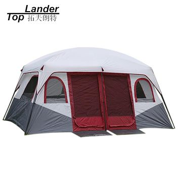 Large Family 8 10 12  Camping Tents Waterproof Cabin Outdoor Tent