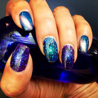 Space is the Place AWESOME GALAXY nail decals
