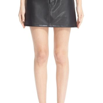 Junya Watanabe Faux Leather Miniskirt | Nordstrom