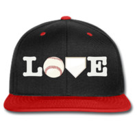 love baseball snapback hat