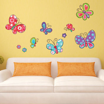 Cute pictures, cartoon insect, cartoon butterfly, baby room decor, children's gifts, wall stickers home decor