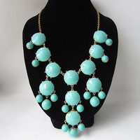 Turquoise bubble necklace,holiday party,bridesmaid gift,Beaded Jewelry,wedding necklace