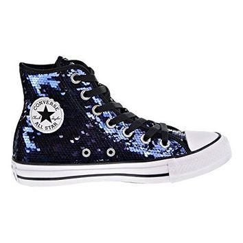 Converse Chuck Taylor All Star Sequin Hi Midnight Indigo Textile Trainers