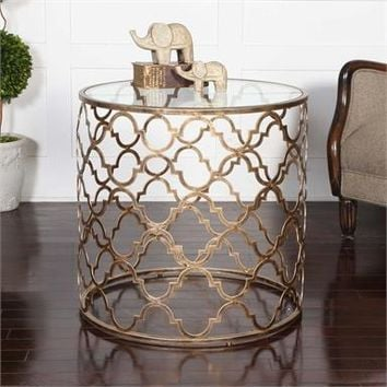 Uttermost Quatrefoil End Table