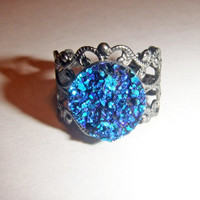 Faux Druzy Ring Faux Drusy Ring Sparkly Ring by ThePinkPaisleyShop