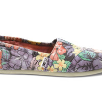 TOMS Lilac Faded Tropical Women's Classics Purple 8