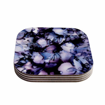 "Claire Day ""Violet"" Blue Purple Coasters (Set of 4)"