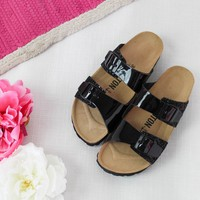 Bayton Black and Glitter Slide