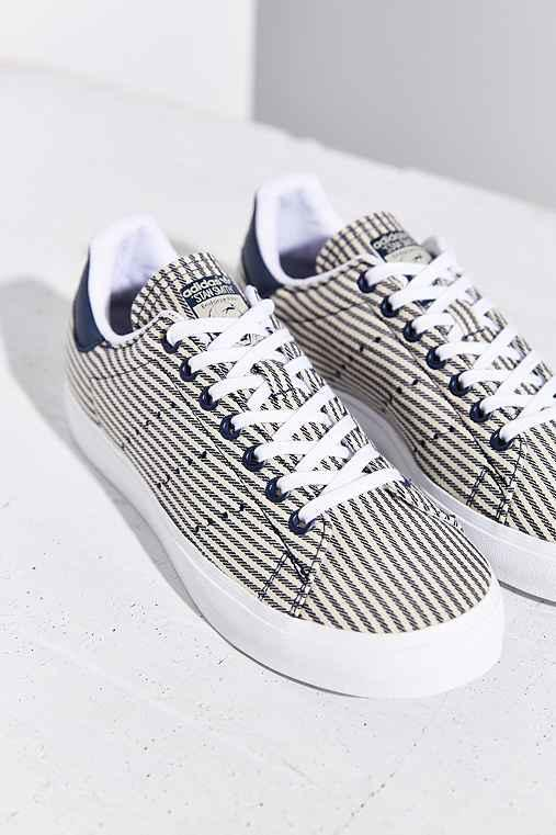 adidas Stan Smith Stripe Sneaker- Blue from Urban Outfitters 0dfb875275