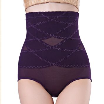 2015 New Women Body Shaper Girdle Underwear Four Color Plus Size Hip Abdomen Tummy Control Pantie High Waist Brief Body Shaper
