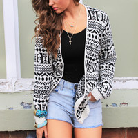 Monochrome Cool Cardigan