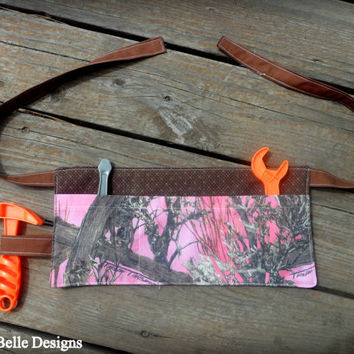 Pink Camo Tool Belt or Work Apron for Toddler/Girl