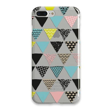 Geometric Print iPhone 6 Case Clear iPhone 7 Plus Case iPhone 6 Plus Case Phone Case iPhone SE Case Clear Case For iPhone Best Friend Gift