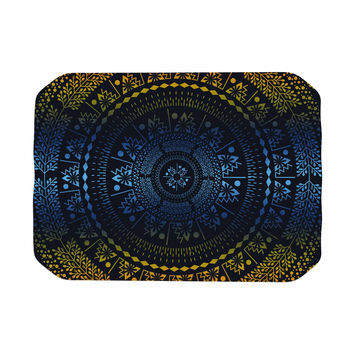 "Famenxt ""Night Queen Boho Mandala"" Multicolor Illustration Place Mat"