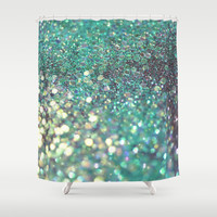 Sea Swift Shower Curtain by Lisa Argyropoulos