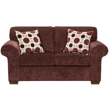 Flash Furniture Exceptional Designs Prism Elderberry Microfiber Loveseat