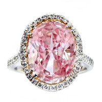 Natural 5.05 Carat Fancy Pink GIA Certified Diamond RIng.
