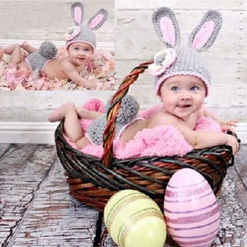 LL Newborn Crochet Rabbit Photography Prop