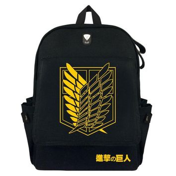 Cool Attack on Titan  Backpack Men Women Canvas Japan Anime Printing School Bag for Teenagers Travel Bags AT_90_11