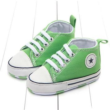 First Walker Shoes For Baby Lace Up Canvas Shoes