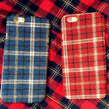 Unique Handmade Oxford Cloth iPhone 5S 6 6S Plus Case