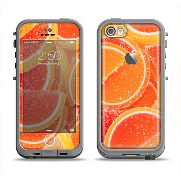 The Orange Candy Slices Apple iPhone 5c LifeProof Fre Case Skin Set